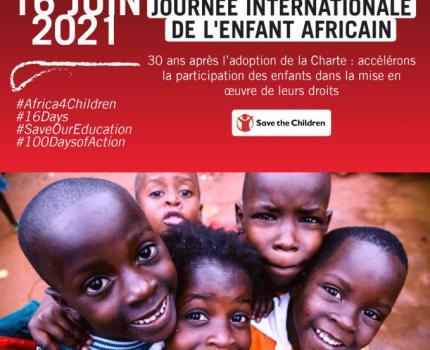 JOURNEE INTERNATIONALE DE L'ENFANT AFRICAIN 2021 : LES ENFANTS PLAIDENT POUR L'ACCES ET LA CONTINUITE DE LEUR EDUCATION
