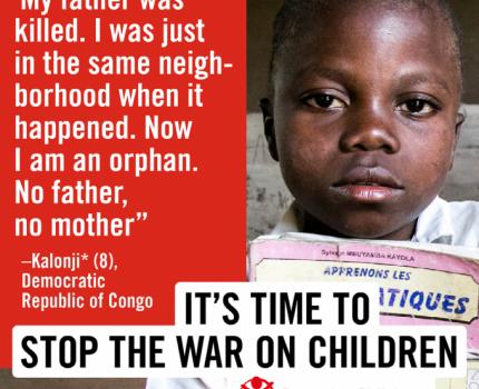 Rapport SWOC - 1 enfant sur 4 en Afrique vit en zone de conflit