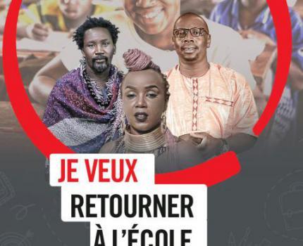 Trois ténors de la musique au Burkina Faso, au Niger et au Mali s'unissent pour demander le retour à l'école de plus de 700 000 enfants dans leur pays